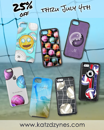 women's volleyball device cases collection