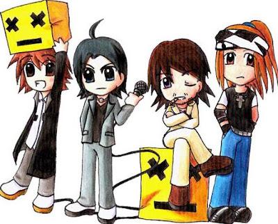 Caricatura de la banda L'Arc en Ciel