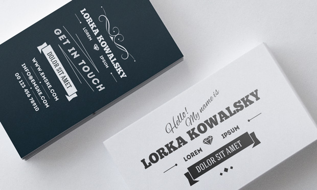Vintage business card template psd free download graphic knot vintage business card template psd free download reheart Gallery