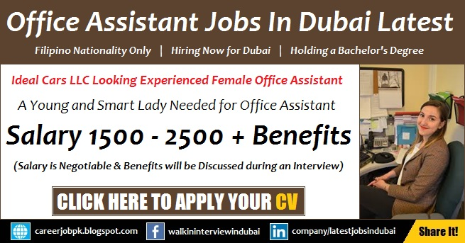 Office Assistant Jobs in Dubai 2018