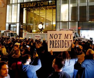 Ant-Trump's #NotMyPresident Protests Takes Over US