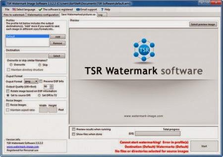 TSR Watermark Image Software Portable Download - Crack Full