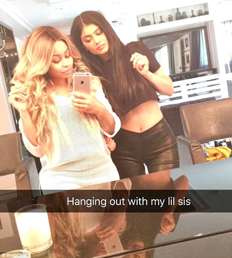 The Beef is Over! Kylie Jenner Cuddles Up with Blac Chyna as They Re-unite on Snapchat (Photos)