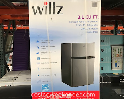 Willz 3.1 cubic ft Compact Refrigerator/Freezer (WLR31TS1E): great to have in any man cave or garage