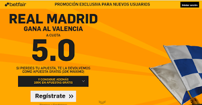 betfair Real Madrid gana Valencia supercuota 5 Liga 3 enero