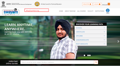 online courses official website of indian government homepage