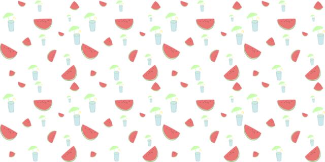 Sandías y refrescos con sombrilla - Fondo