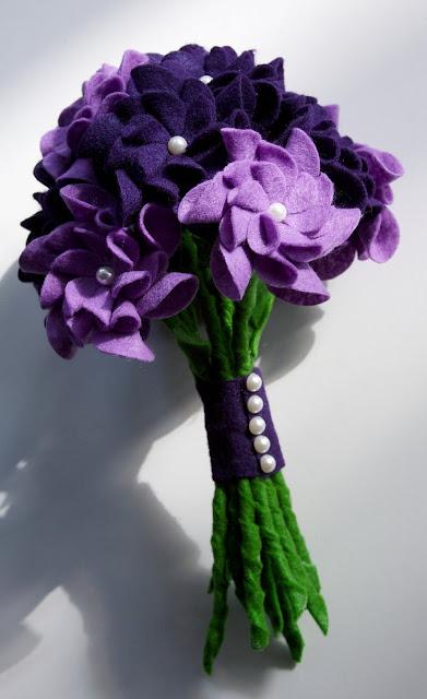 Buquê flores de tecido