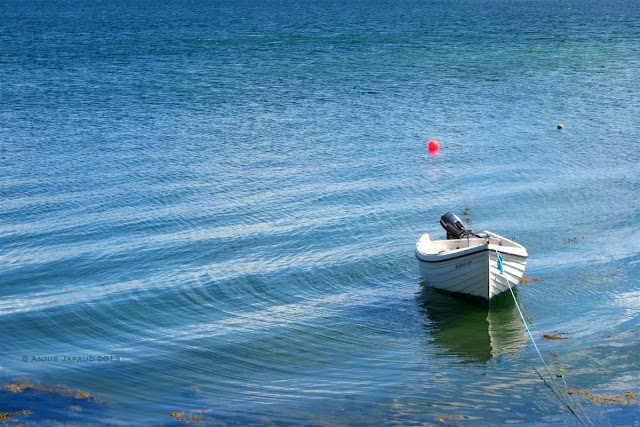 boat, blue water, ocean, Roundstone © Annie Japaud Photography