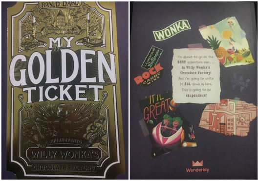My Golden Ticket Personalised book for children | My Crazy Family Story