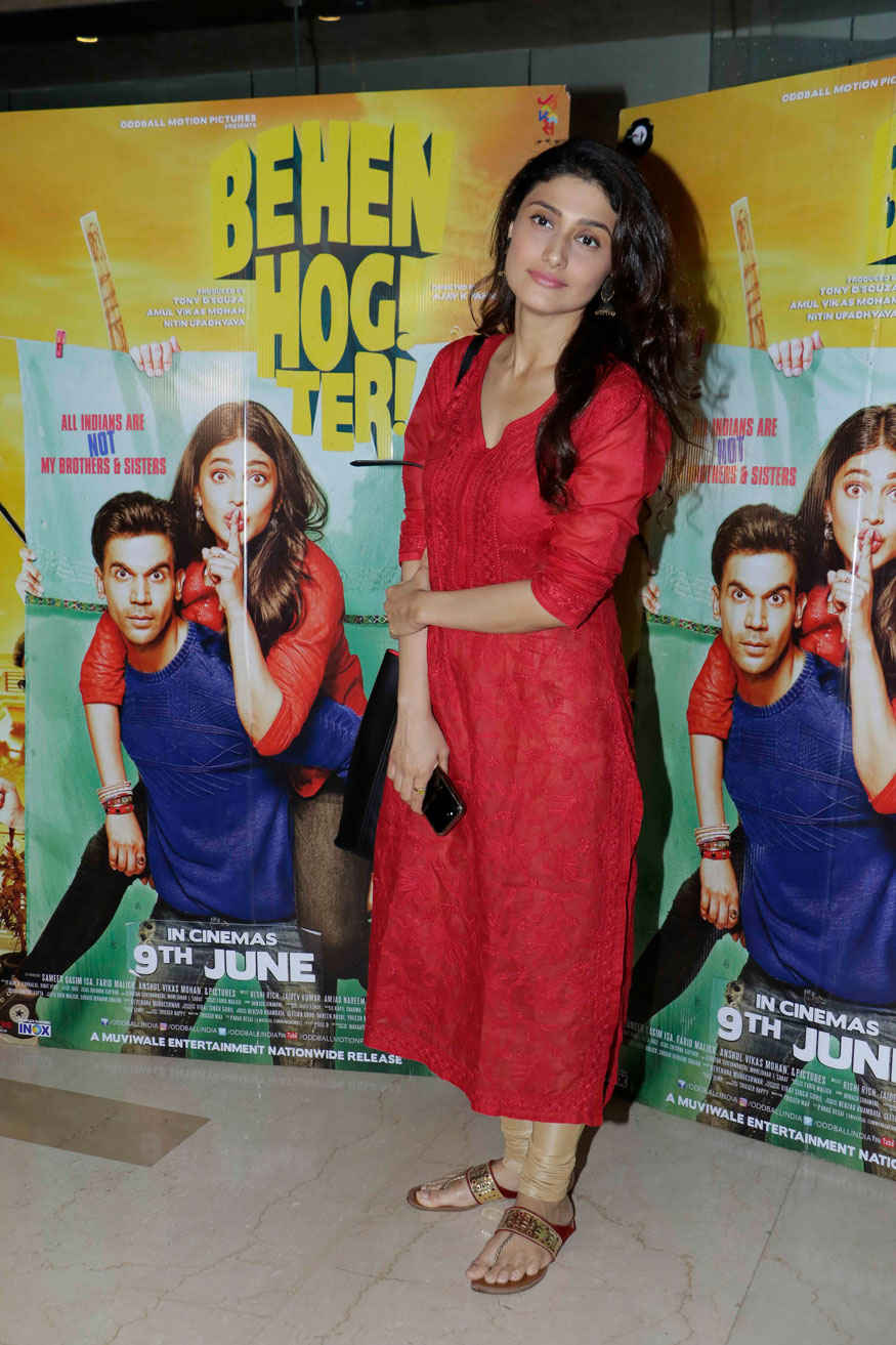 Ragini Khanna Attends Screening of Behen Hogi Teri at PVR - ICON In Mumbai