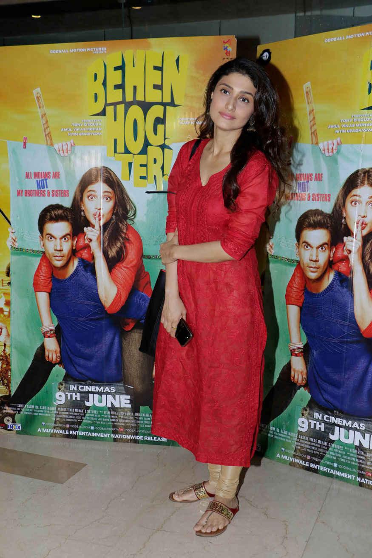 Ragini Khanna Attends Screening of Behen Hogi Teri at PVR - ICON In Mumbai