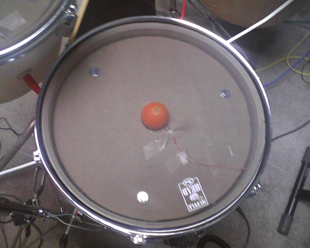 golf ball trigger cone for electronic drum the drum experiment. Black Bedroom Furniture Sets. Home Design Ideas