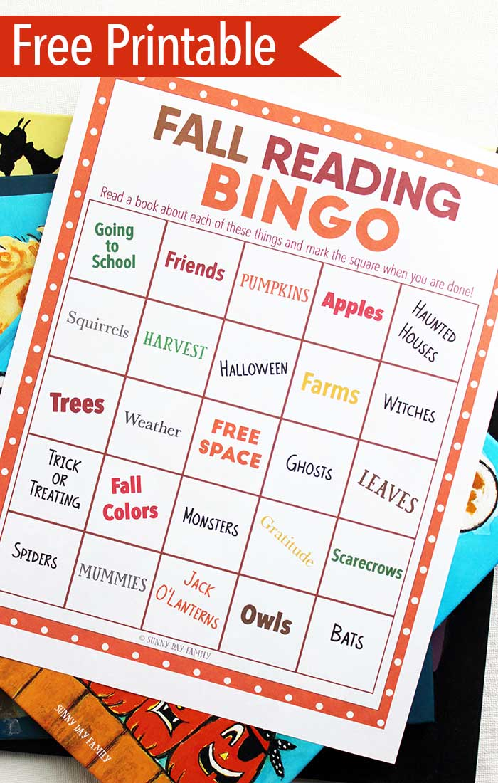 Make reading fun with this Fall book bingo game for kids! Perfect for preschool fall themes, Halloween books, and more, this is more fun than a reading log! Get the free printable bingo game here and start reading Fall books for kids now!