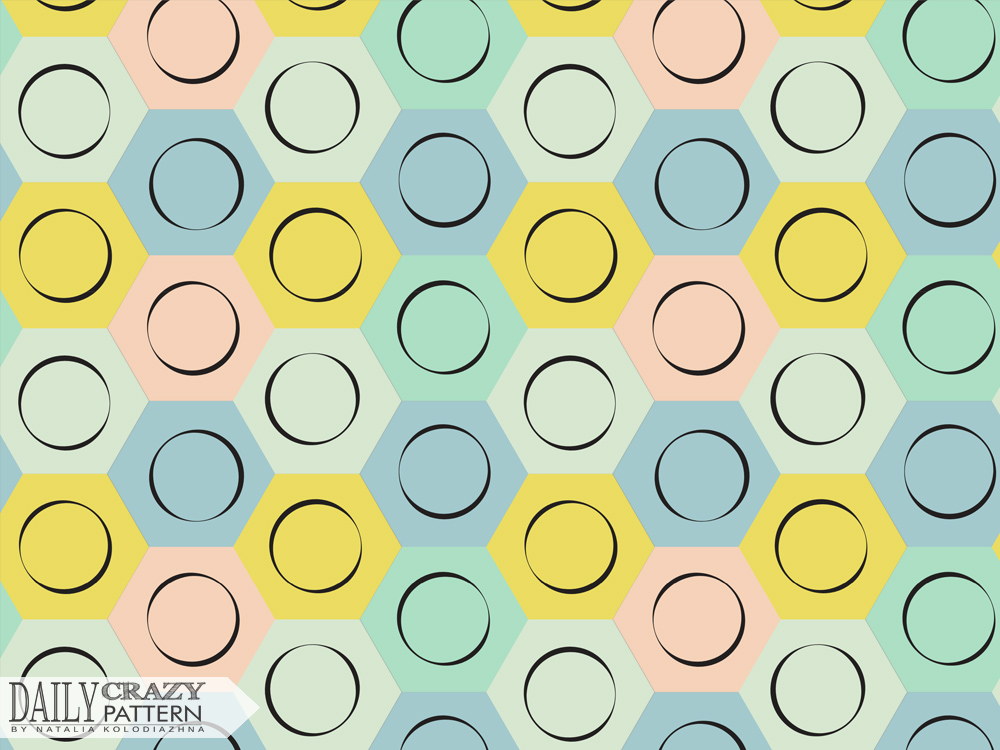 "Pop art pattern for ""Daily Crazy Pattern"" project"