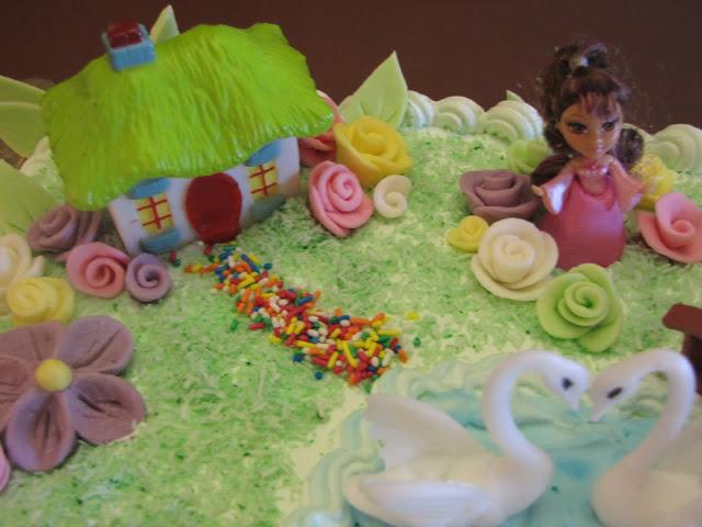 Διακόσμηση τούρτας η λίμνη των κύκνων