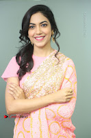 Actress Ritu Varma Pos in Beautiful Pink Anarkali Dress at at Keshava Movie Interview .COM 0088.JPG