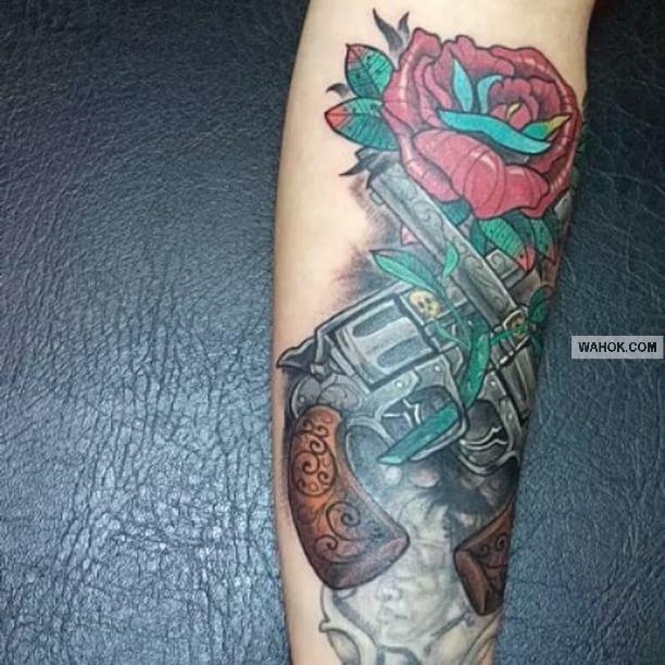 Gambar Tattoo 3D Tembak Terbaru Di Dada, Punggung, Paha, Leher, Betis, Paling Keren
