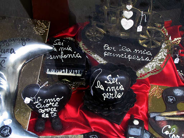 Valentine Day kitsch chocolate, Livorno