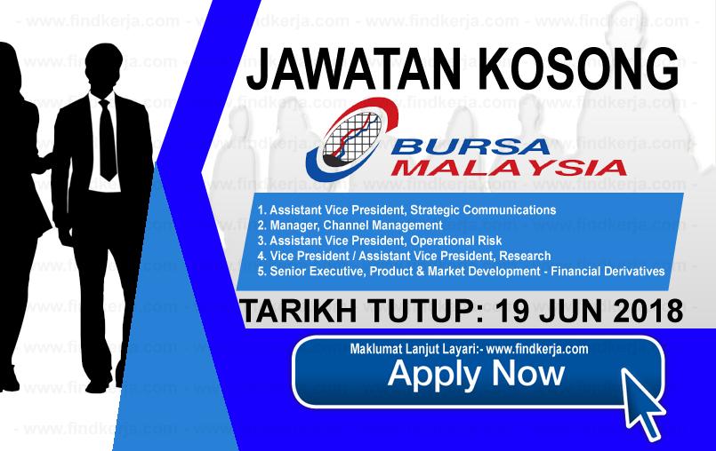 Jawatan Kerja Kosong Bursa Malaysia Berhad logo www.findkerja.com www.ohjob.info jun 2018