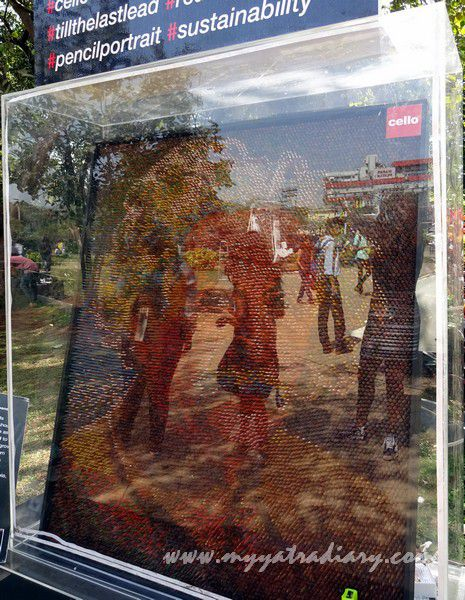 Till the last lead - Visual arts at Kala Ghoda Arts Fest, Cross Maidan, Fort.