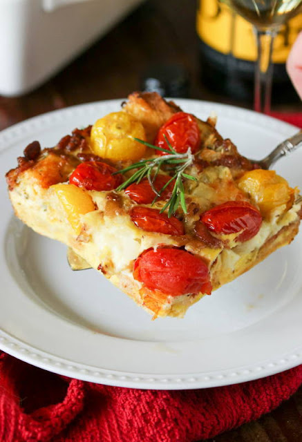 Tomato-Bacon Breakfast Casserole ~ enjoy this tasty casserole for brunch, lunch, or dinner.