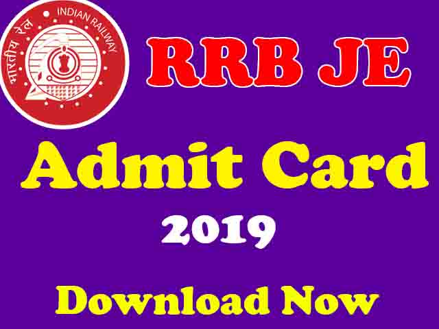 2019 rrb je admit card