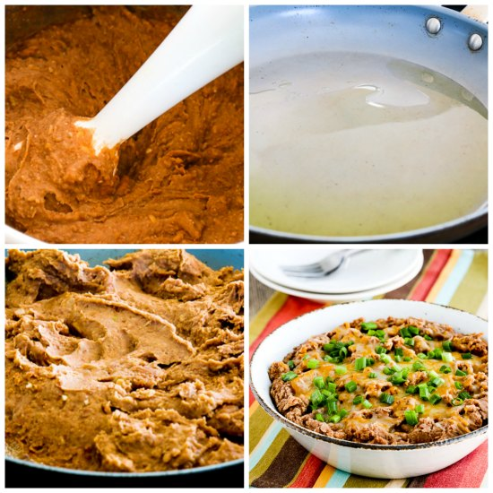 The BEST Instant Pot Refried Beans with Onion, Garlic, and Chiles found on KalynsKitchen.com.