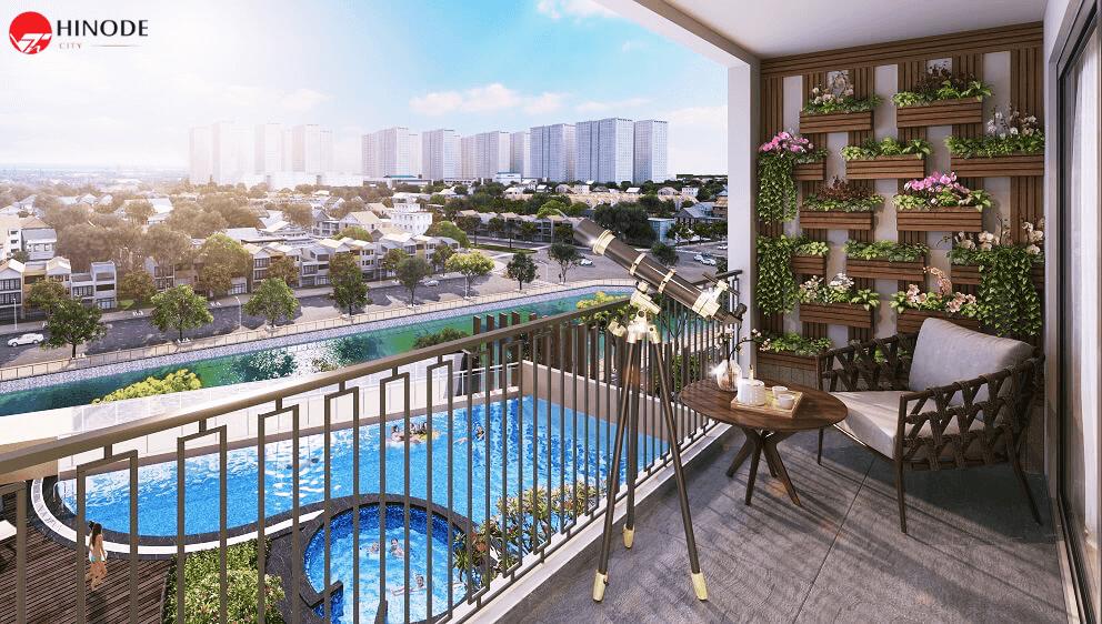 Tầm nhìn rộng mở tại căn hộ Hinode City Minh Khai