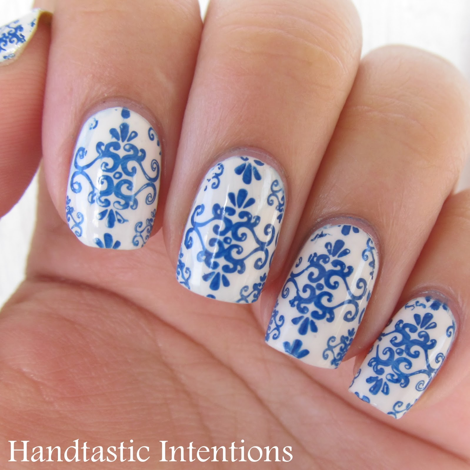 Handtastic Intentions: Nail Art: Blue and White Ceramics ...