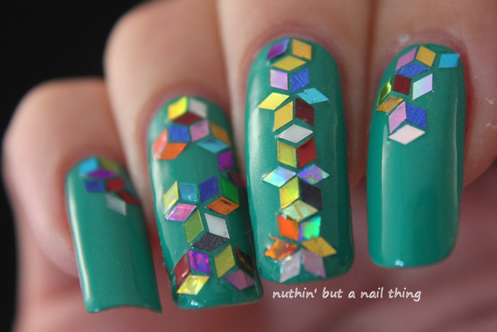 nuthin' but a nail thing: Sequin nail art