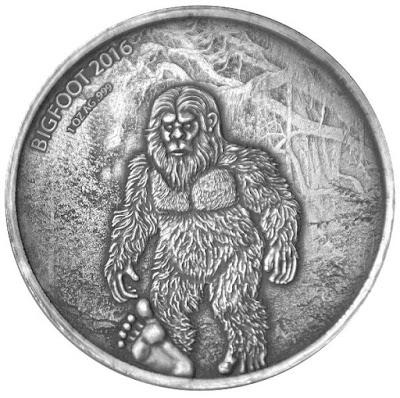 Bigfoot Burkina Faso Silver Coin
