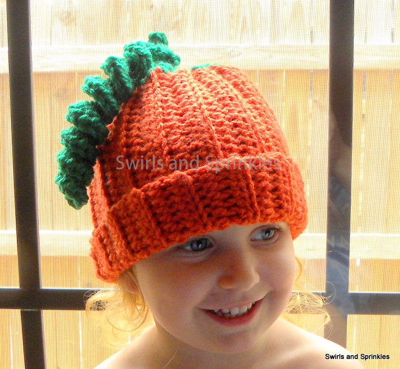 Swirls and Sprinkles  Free Easy Crochet Pumpkin Hat. Size Toddler Child 6c766dbb836