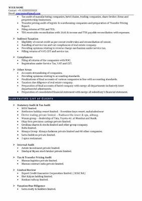 CA Experience Resume 2