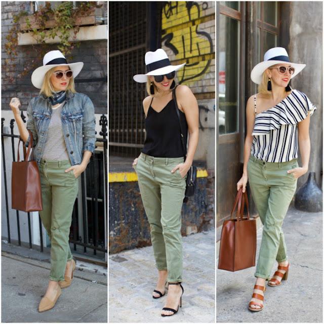 blog achados de moda - calça verde militar feminina - como usar