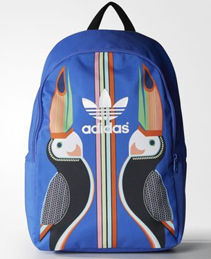 Farm e Adidas Originals mochila estampa Tukana