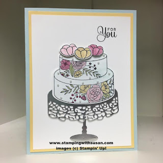 Stampin' Up! Cake Soiree Sweet Cake Framelits Silver foil sheets