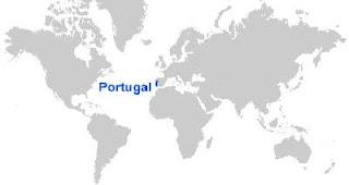 Gambar Peta letak Portugal
