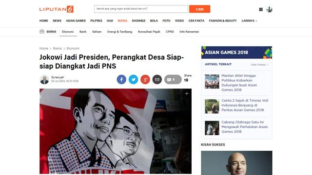 Tuntut Janji Jokowi Angkat Perangkat Desa jadi PNS, Aksi Kepung Istana Bakal Digelar