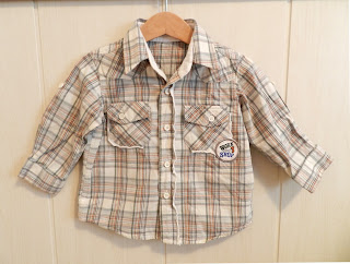 Ropa infantil. Camisa Mothercare. Camisa manga larga.