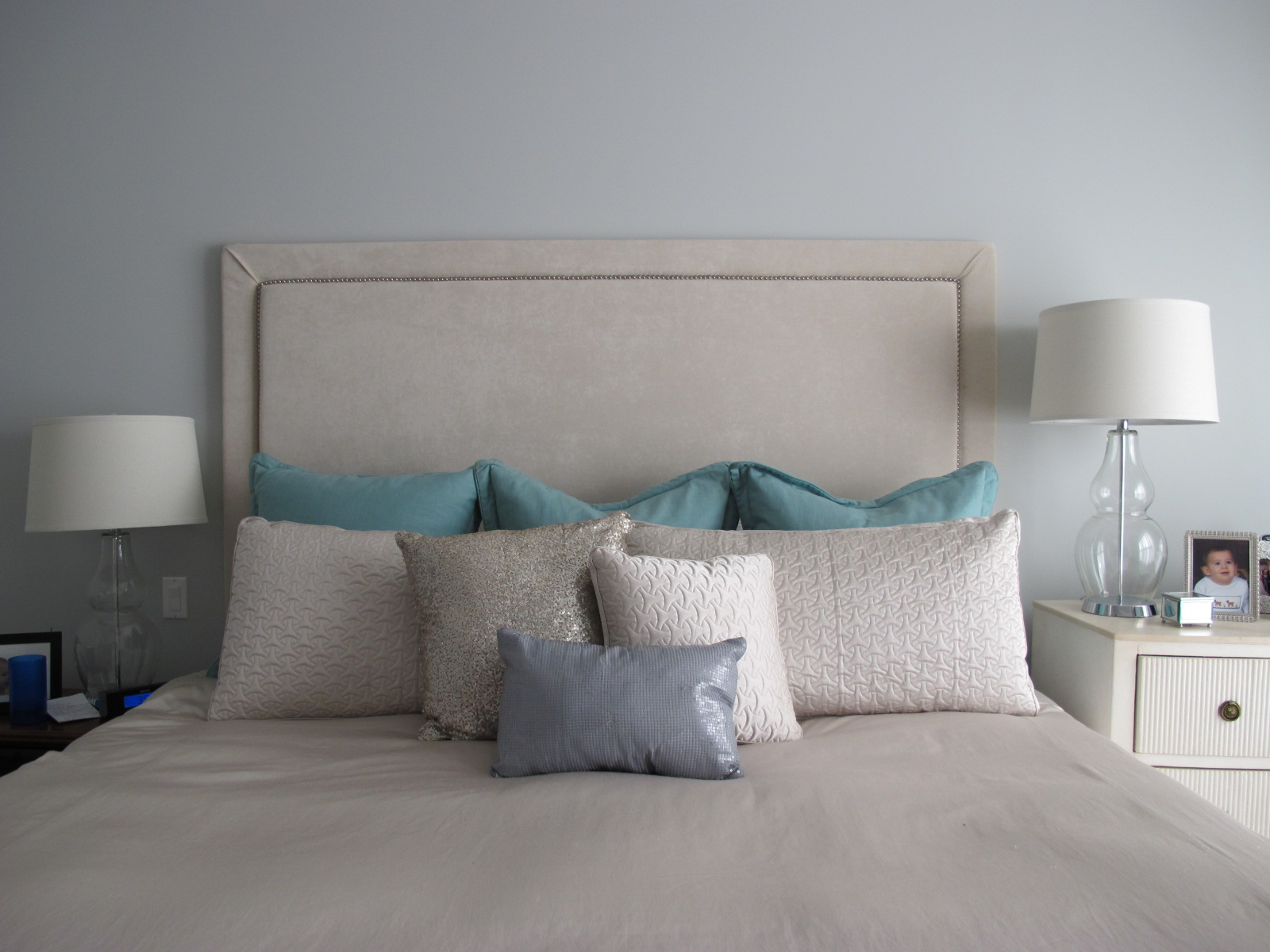 How To Make An Upholstered Headboard With Nailhead Trim