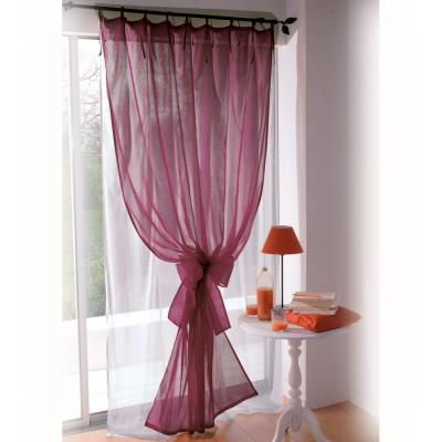 simple window modern curtain design with purple fabric
