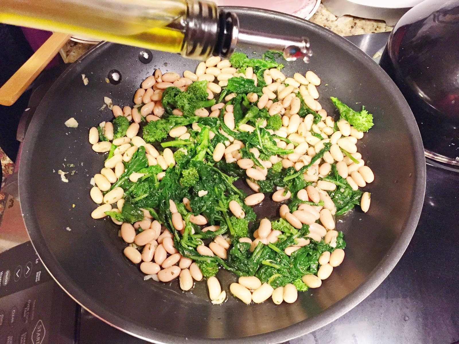 Broccoli Rabi with Cannellini beans
