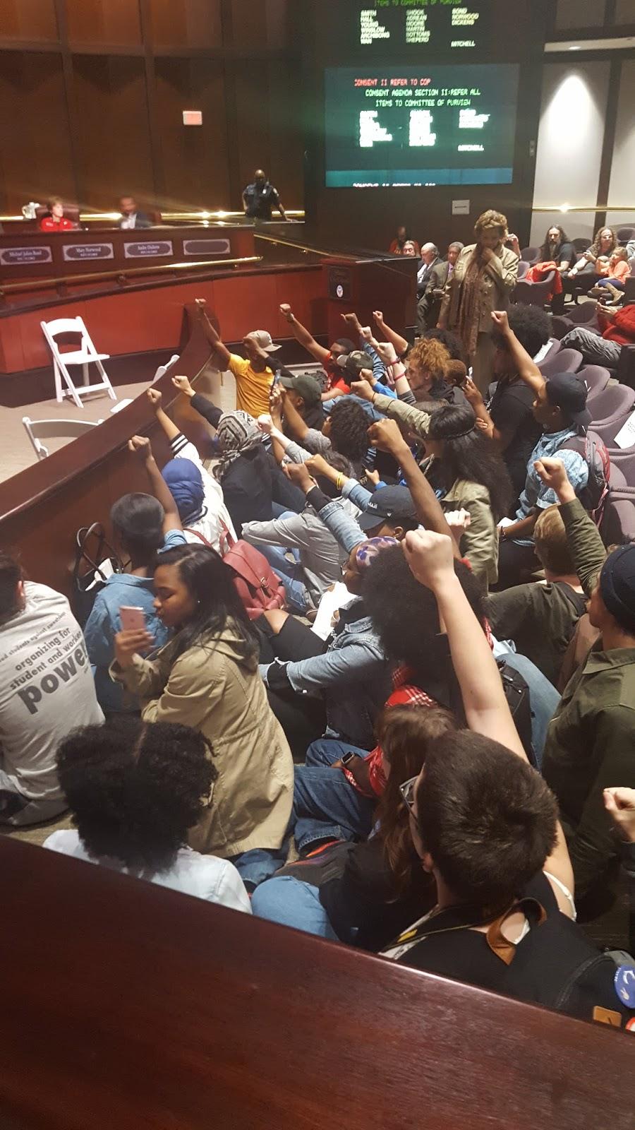 Students occupy City Hall