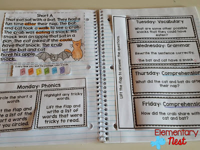 Making ELA Reading Interactive- phonics, reading, comprehension, vocabulary, and writing practice in one!