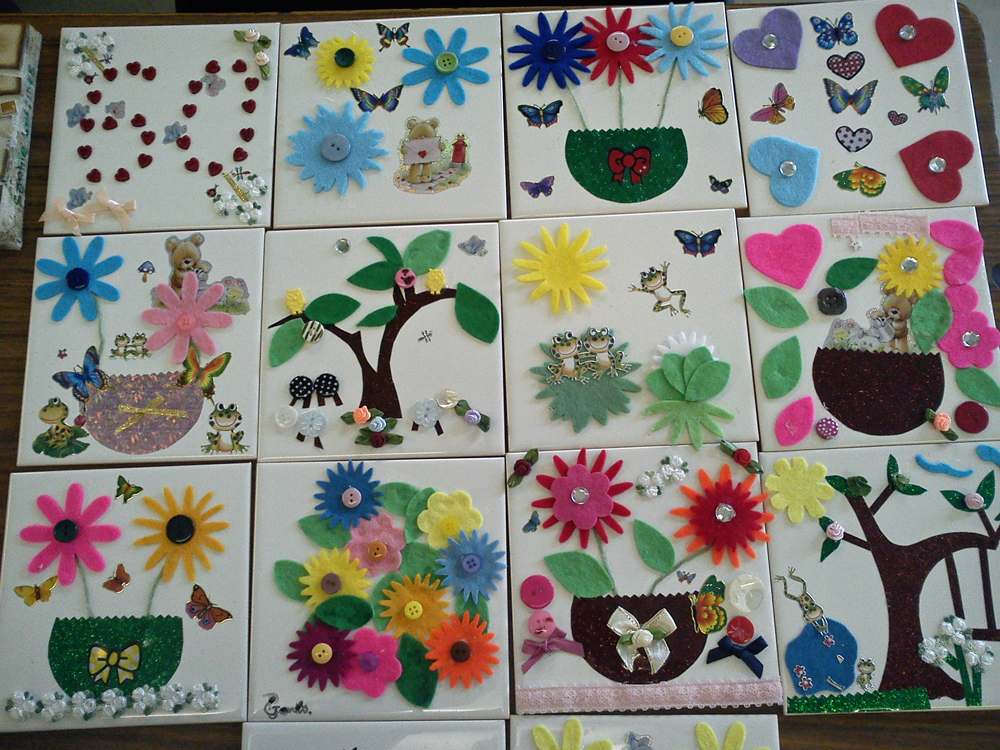 Craft And Activities For All Ages Decorate A Ceramic Tile