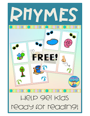 Playing with rhymes helps kids get ready for reading! Free download from Looks Like Language.