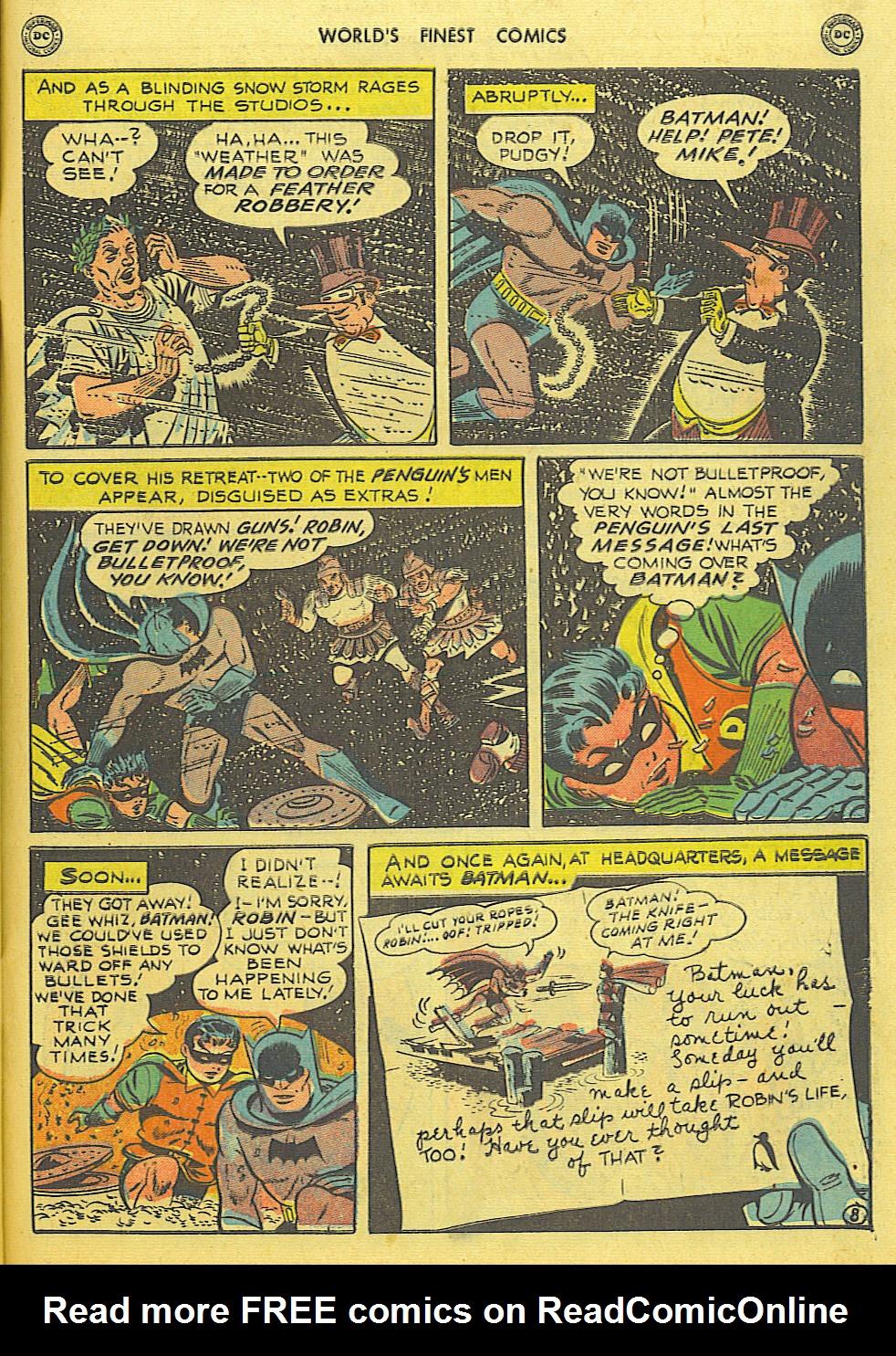 Read online World's Finest Comics comic -  Issue #49 - 70