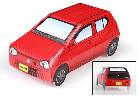 PAPERMAU: Easy-To-Build Suzuki Alto Paper Model - by Suzuki