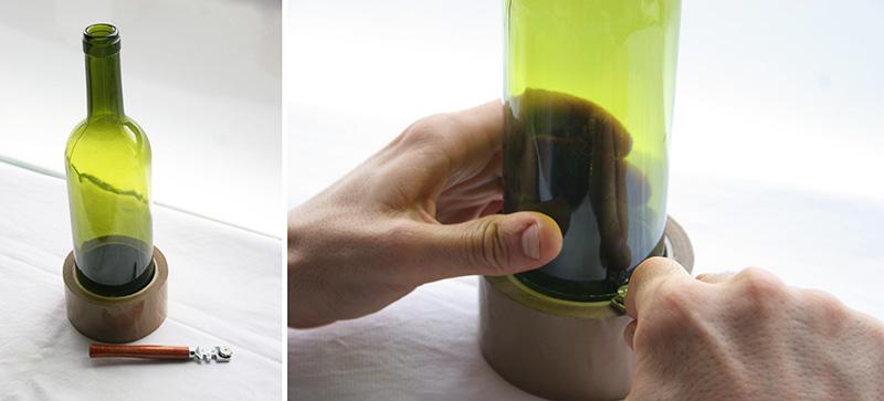 Decorar en familia_Reciclar vidrio: Cómo cortar botellas de cristal4